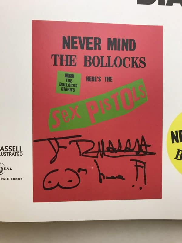 sex pistols never mind the bollox signed2