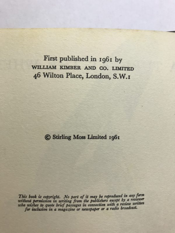 stirling moss a turn at the wheel signed book3