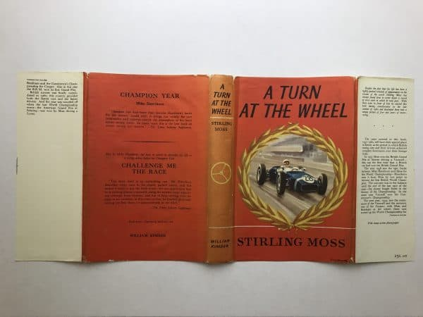 stirling moss a turn at the wheel signed book5