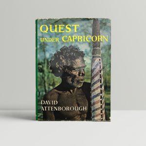 david attenborough quest under capricorn signed 1st ed1